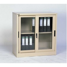 LOW HEIGHT GLASS CUPBOARD